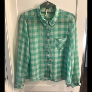 Free people checked shirt